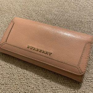 Burberry dusty rose wallet